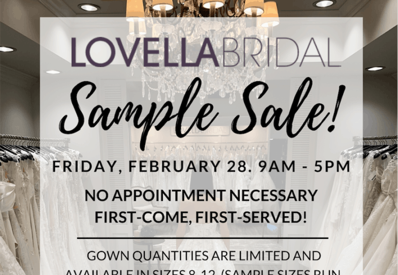 It's Sample Sale Time! Image